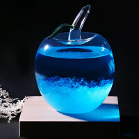 创意水晶苹果天气预报瓶风暴瓶气象预测瓶子创意玻璃工艺品 平安果情人节礼物送女友