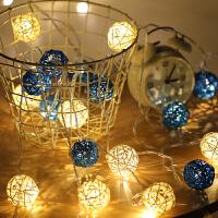 LED彩灯闪灯串灯泰国藤球灯浪漫婚房装饰灯电池霓虹灯房间小彩灯l5l