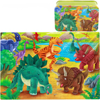 100/200片拼�D�F盒�b �和�益智卡通木制小孩6-7-8�q以上�e木玩具