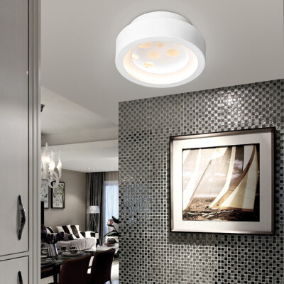 雷士照明 LED吸顶灯简约现代高端阳台过道玄关吸顶灯 过道灯