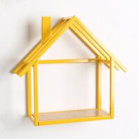 新品 创意简约现代家居墙面装饰铁艺小房子壁挂客厅卧室悬挂置物架墙饰