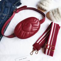 包包女包时尚单肩斜挎包小包包胸包腰包潮s6 红色