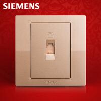 西门子开关开关面板西门子悦动系列香槟金色电话信号插座