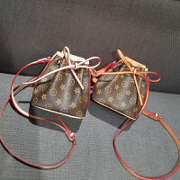 小包包新款潮韩版迷你印花包时尚女包百搭单肩斜挎抽带水桶包