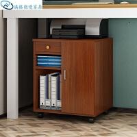 电脑显示器增高架台式移动机箱打印机放置滑轮主机架带简约收纳电脑主机多功能 A款加门 密度板