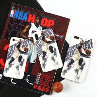 篮球nba热火队韦德wade苹果X/8软壳iphoneX/8/7/6splus手机壳磨砂