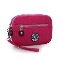 老人买菜手机零钱手拿包中年妈妈手拎迷你女包中老年人手拎小包包 玫红色