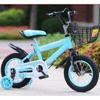 W 儿童自行车3岁宝宝脚踏单车2-4-6岁男孩女孩小孩6-7-8-9-10岁童车 闪光轮