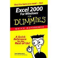【预订】Excel 2000 for Windows for Dummies Quick Reference