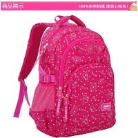 韩版书包小学生女孩1-3-4-6年级校园儿童超轻6-12岁护脊双肩背包 玫红色 大号