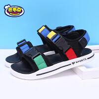 巴布豆童鞋 男童凉鞋2018新款夏季韩版中大童儿童凉鞋男潮沙滩鞋