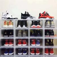 鞋盒加厚透明塑料鞋柜宿舍运动篮球鞋收纳收藏aj/展示亚克力防氧 自由组合