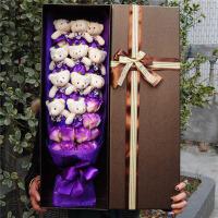 玫瑰花香皂小熊花束生日创意礼物女生闺蜜花束