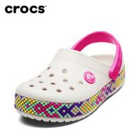 Crocs童鞋男童凉鞋 卡骆班炫彩小克骆格女童洞洞鞋|205171 卡骆班炫彩小克骆格