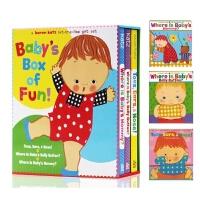 英文原版 Karen Katz 卡伦卡茨Where Is Baby's Belly Button/Mommy/Toes Ears Nose/3本低幼认知英语启蒙翻翻纸板书0-3岁童书