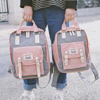 女中学生韩版小清新书包少女bf学院风背包潮原宿风防水帆布双肩包