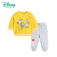 迪士尼Disney童装春秋新款纯棉男童套装巴斯光年宝宝运动卫衣休闲服181T792