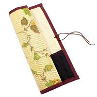 文房四宝 毛笔卷笔袋笔帘包边布袋竹袋收纳袋 保护毛笔书画用品