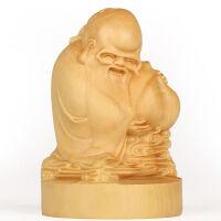 木雕刻弥勒佛实木手把件红木佛像工艺品小号寿星摆件