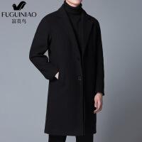风衣毛呢大衣中长款冬季加厚宽松呢子韩版落肩羊绒