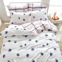 小清新四件套公主风1.8双人床单被罩床笠被套三件套4