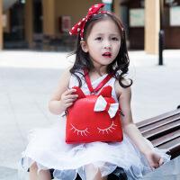 Hug Bear儿童斜挎包可爱卡通宝宝包包公主单肩包女童猫咪背包小孩斜跨包潮