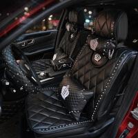 奔驰宝马奥迪汽车座垫英伦时尚铆钉朋克风夏季坐垫男女车座垫
