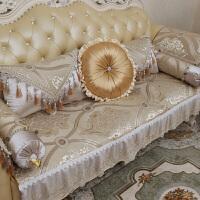 欧式沙发垫布艺真皮防滑蕾丝沙发巾套靠背巾四季通用夏季坐垫订做