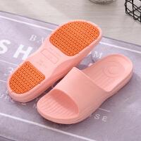 夏季凉拖鞋女室内浴室洗澡防滑拖鞋男孕妇中老年人家居软厚底拖鞋