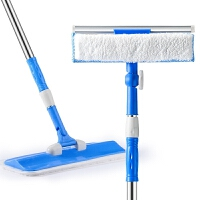 清洗清洁工具刮水器平板拖把家用擦玻璃器双面伸缩杆擦窗窗户