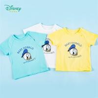 迪士尼(Disney)童装 男童短袖T恤纯棉圆领印花上衣2020年夏季新品男孩薄款短T