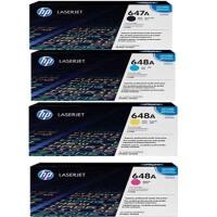 惠普原装正品 hp 647A HP648A 彩色打印机硒鼓 墨粉盒 CE260A 黑色 CE261A 蓝色 CE262