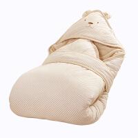 婴儿抱被纯棉春夏秋冬四季款 宝宝包被睡袋两用床品可脱胆