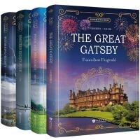 英文原版小说全英版畅销书4册 了不起的盖茨比英文版+傲慢与偏见+呼啸山庄+1984 外国英语原著书籍