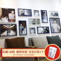 洗照片大墙面北欧照片墙装饰相框墙创意个性相框挂墙组合客厅简约 2*0.8米 蓝白框 冲洗照片