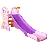 迷你折叠家用6--10岁儿童滑梯室内家玩小孩的小儿童滑梯加长加宽 韩版粉紫加长 1-8岁