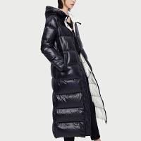 初语轻薄羽绒服女2019冬季新款中长款过膝连帽休闲超长显瘦外套