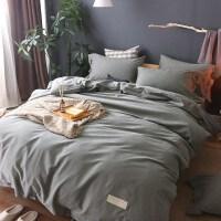 韩版纯色加厚磨毛四件套全棉纯棉床单被套1.8m2.0米床上用品秋冬