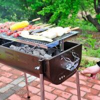 户外便携大号烧烤炉 加厚木炭bbq工具 全套家用5人以上木炭烧烤架BBQ