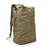 双肩包男士背包帆布包大容量水桶包户外旅行包运动多功能男包