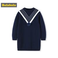 巴拉巴拉女童针织衫2018年新款秋冬大童儿童毛衣女套头韩版时尚潮