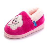 儿童棉拖鞋女童冬宝宝室内幼儿小孩卡通保暖居家鞋女