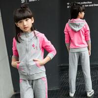 女童套装儿童服装中大童运动装学生女孩两件套