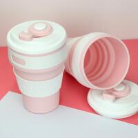 旅行创意便携咖啡杯漱口杯压缩折叠杯户外硅胶折叠水杯可伸缩杯子