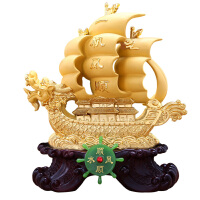 一帆风顺帆船摆件 酒柜装饰品 客厅家居公司前台办公室桌开业*