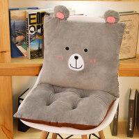 小熊连体坐垫靠垫一体办公室椅垫宿舍学生椅子防滑男女电脑椅垫子 防滑-可拆分(靠垫+坐垫连体)