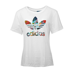 Adidas阿迪达斯  2017夏季新款女装三叶草休闲短袖T恤   BK2367