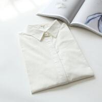 2018秋冬新款加绒加厚娃娃领白色衬衫女长袖学生内搭打底衬衣 白色 尖领 薄款