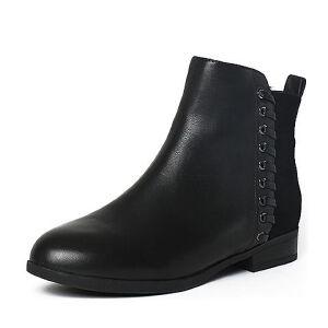 Tata/他她冬季牛皮时尚编织方跟女短靴2YWA4DD6