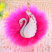 车钥匙挂件女士毛绒创意可爱个性狐狸毛清新包包挂饰钥匙扣